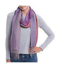 alpaca blend scarf, 'alluring grace' (peru)