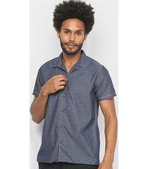 camisa acostamento manga curta masculina