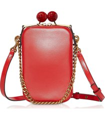 marc jacobs designer handbags, bright red leather the vanity clutch