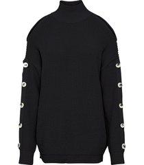 maglione con cut-out (nero) - rainbow