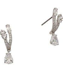 adriana orsini women's rhodium-plated & crystal stud earrings