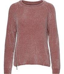 chenille knitted crew stickad tröja röd sebago