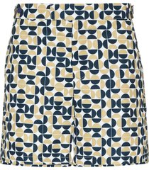 frescobol carioca shade geometric tailored swim shorts - white