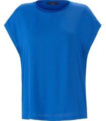 shirt met ronde hals en aangeknipte mouwen van emilia lay blauw