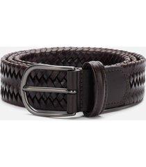 anderson's men's matt buckle woven belt - dark brown - w36/xl