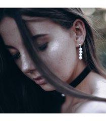 kolczyki z perłami for4 - srebro
