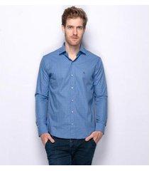camisa social manga longa teodoro bryan algodão masculina