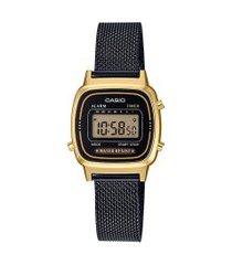 relógio digital casio feminino - la670wemb1df dourado
