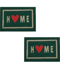 2 capachos divertido p/ porta 60x40cm home64 - verde - feminino - dafiti