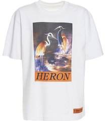 bird graphic print logo t-shirt