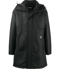 a-cold-wall* hooded mid-length parka - black