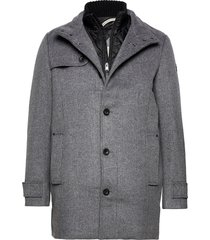 wool coat no yllerock rock grå tom tailor