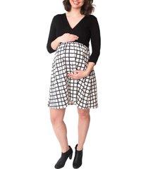 women's nom 'nora' surplice maternity/nursing dress, size large - black