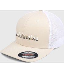 gorra beige-blanco columbia mesh ball