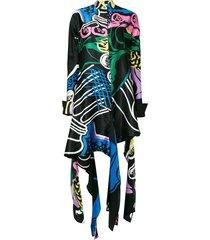 jw anderson foxglove print dress - black