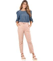 pantalon mielero rosa ragged pf12310295