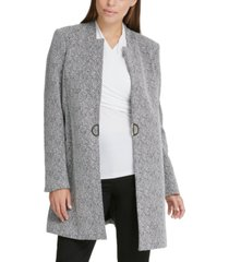 dkny d-ring topper jacket