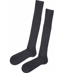 calzedonia - tall ribbed egyptian cotton socks, 42-43, grey, men