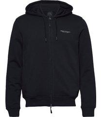 man jersey sweatshirt hoodie trui blauw armani exchange