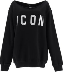 icon sweatshirt with crystals dsquared2