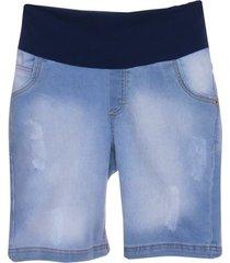 bermuda jeans emma fiorezi com pesponto triplo