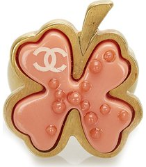 chanel camellia ring orange sz: