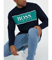 boss authentic sweatshirt tröjor dark blue