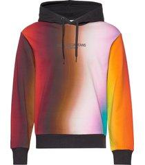 blur aop relax hoodie trui multi/patroon calvin klein jeans