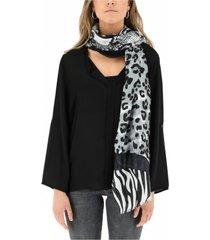 pañuelo leopardo negro humana