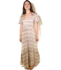 vestido galeras multicolor wild lama