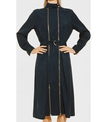 reiss alexis - zip detail midi dress in navy, womens, size 14