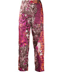f.r.s for restless sleepers jacquard print trousers - brown