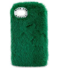 dyed mink fur iphone 7 case