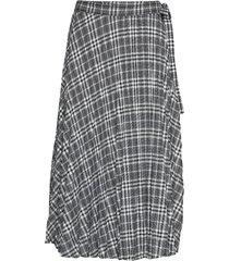 enfullerton skirt 6672 knälång kjol grå envii