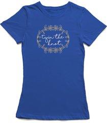 tyin' the knot florar wedding wreath women's royal blue t-shirt