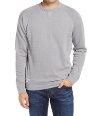 men's johnnie-o pamlico crewneck sweatshirt, size small - grey