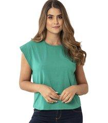 camiseta fedina verde ragged pf17120038