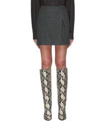bordeaux' checked wool blend skirt