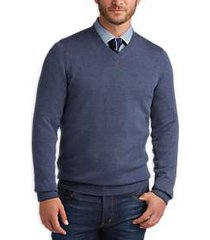 joseph abboud slate v-neck merino wool sweater