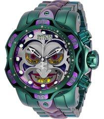 reloj invicta 30124 verde acero inoxidable