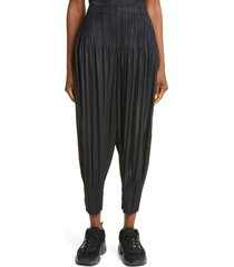 pleats please issey miyake fluffy pleated crop pants, size 1 in 15 black at nordstrom