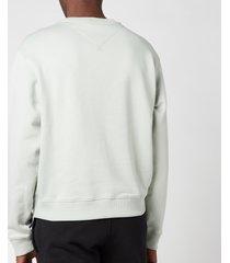 kenzo men's logo sweatshirt - sage green - xxl