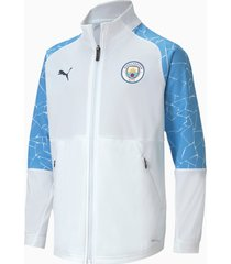 man city stadium youth football jacket, wit/blauw/aucun, maat 116 | puma