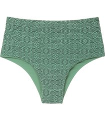 track & field tribos print bikini bottom - green