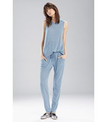 josie heather tees kangaroo pants pajamas, women's, blue, size m natori