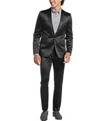 paisley & gray skinny fit suit separates coat black sateen