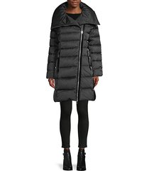 brooklyn asymmetrical-zip down puffer coat