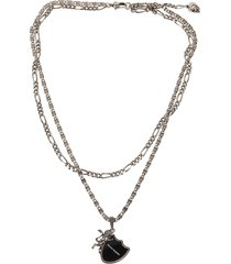 alexander mcqueen lion shield necklace
