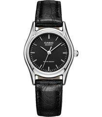 reloj casio ltp-1094e-1a analogo 100% original-negro