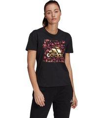 camiseta adidas performance mujer big logo foil graphic